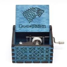 Горячая 30 стиль античная резьба по дереву игра трон Звездные войны музыкальная шкатулка рукоятка тема музыка подарок на день рождения, рождественский подарок