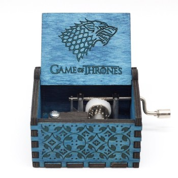 Antique Wood Game Of Thrones Music Box