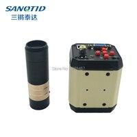 HD VGA USB AV TV Industrial Video Microscope Camera Telephone PCB Welding Repair Digital Electronic C MOUNT 100X 200X Lens
