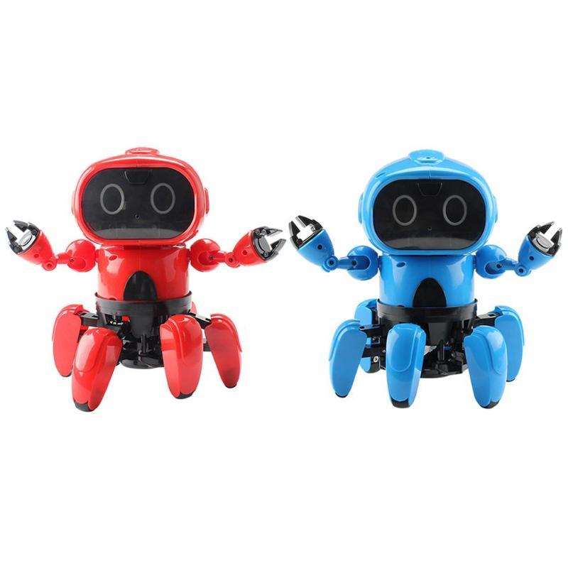 Enfants télécommande modèle jouets enfants programmation intelligente Six pattes RC Robot jouet filles garçons cadeau d'anniversaire drôle jouer jouets