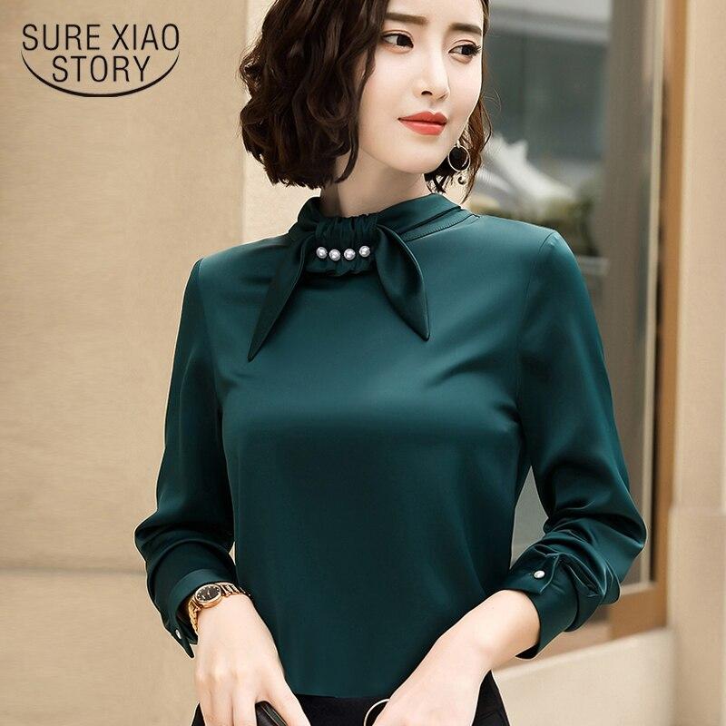 214093bea8c15 Além disso sze mulheres tops de manga longa das mulheres camisas blusa da  forma da mulher 2018 Outono blusa mulheres blusas camisa blusa chiffon 1605  50