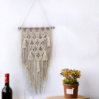 1PC Handmade Home Wall Hanging Tapestry Macrame Cotton for Studio Apartment Home Dorm Bohemian Hanging Decoration
