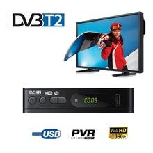 DVB T2 튜너 수신기 HD 1080 위성 디코더 TV TV 튜너 DVB T2 DVB C USB 모니터 어댑터 용 러시아어 설명서 내장