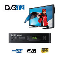 DVB-T2 sintonizador receptor hd 1080psatellite decodificador tv sintonizador dvb t2 dvb c usb built-in russo manual para monitor adaptador