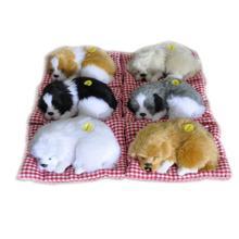 Маленькая имитация щурясь Спящая собака со звуком Прекрасные животные мягкие плюшевые игрушки декорации и подарки на день рожденья для детей