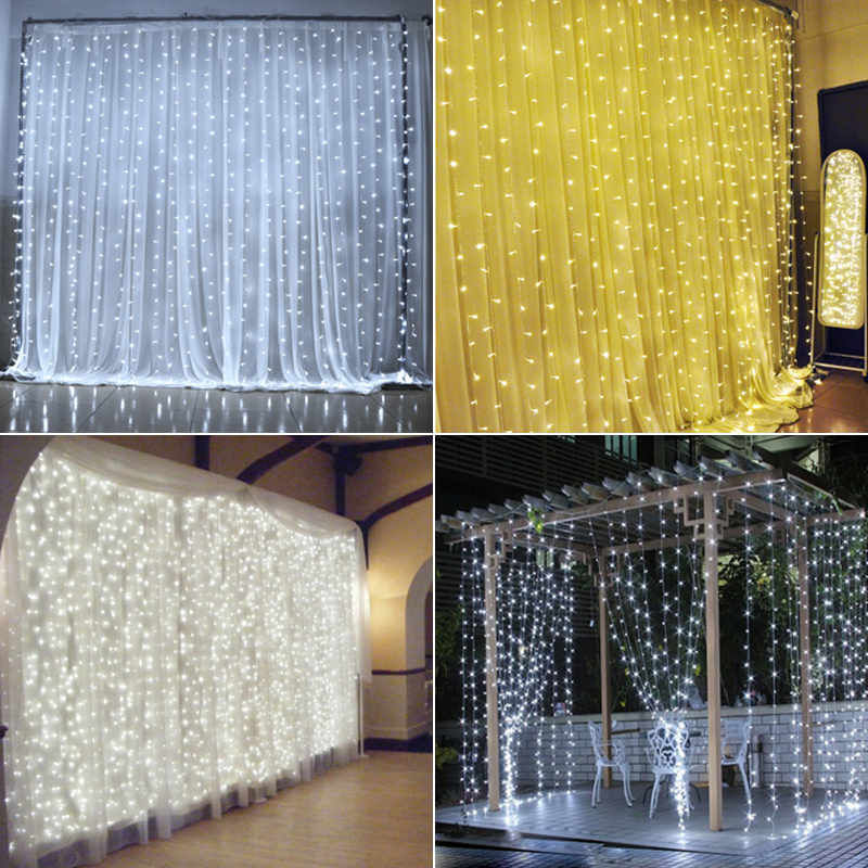 2*2m 400LEDs connectable LED curtain light watrproof IP46 christmas - Holiday Lighting