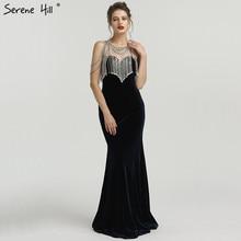 SERENE HILL 2019 Sleeveless Crystal Evening Dresses Mermaid