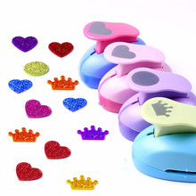 dokibook notebook diy necessary accessory printing paper punch craft tool card cutter scrapbook hole punch hole puncher 1pcs Various DIY Mini Paper Punch Hole Puncher Scrapbook Cards Art Cutter Tool Multi-patterns 2.5cm Kindergarten Children Craft Toys