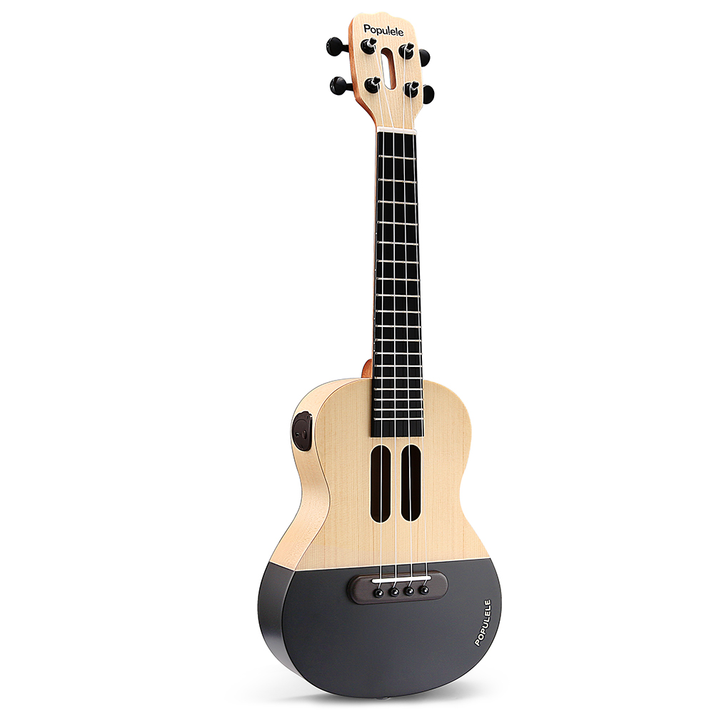 Populele 23 Inch APP LED Bluetooth USB Smart Ukulele Gift For Beginners User Friendfly Pinao Toy Musical Instrument - 3