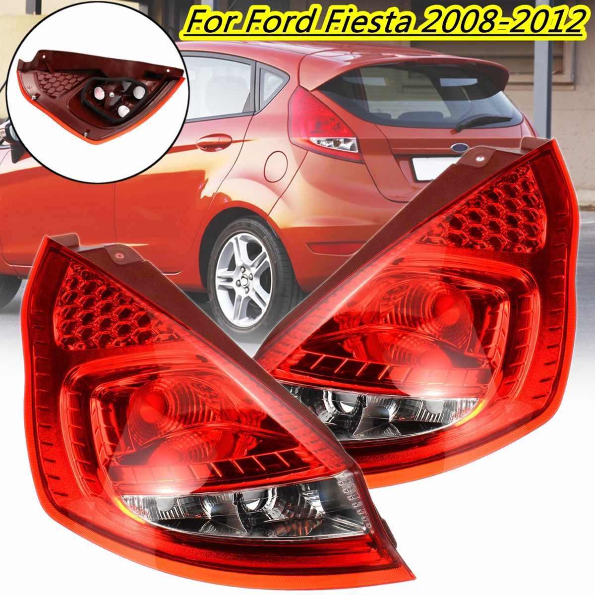 1 Pasang Mobil Ekor Lampu Rem Belakang Lampu untuk Ford untuk Fiesta 2008 2009 2010 2011 2012 Lampu Belakang Kabut Mengemudi penggantian Lampu DRL