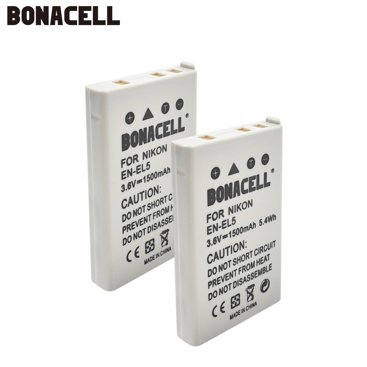 Bonacell 1500mAh EN-EL5 Digital Camera Battery Pack For Nikon Coolpix P4 P80 P90 P100 P500 P510 P520 P530 P5000 P5100 5200 L50