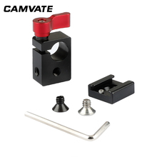 CAMVATE Cold Shoe Rod Clamp Adapter for 15mm DSLR Rig Video Light C0996 camera photography accessories lanparte ofc 02 adjustable z shape offset clamp for 15mm rail system rig dslr video rig