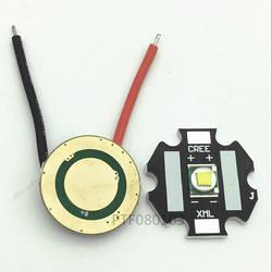 5 шт. Cree XM-L T6 10 Вт холодный белый 6500 К светодио дный свет + T6 L2 3,7 В постоянного тока 2.5A XML транспорматор LED-переключателя для DIY