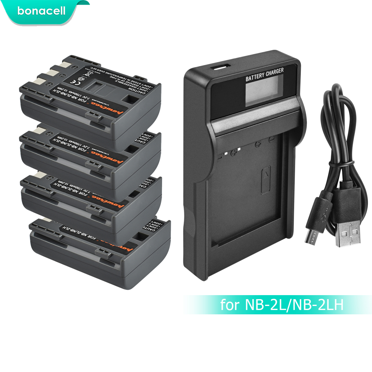 Powtree 1700mAh NB-2L NB2L NB-2LH NB 2LH NB2LH Digital Camera Battery For Canon Rebel XT XTi 350D 400D G9 G7 S80 S70S30 L10 image