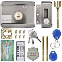 цена Electronic Access Intelligent Remote Entry Access Control System ID Double Head 12V Door Gate Lock/Smart Electric Strike Lock онлайн в 2017 году