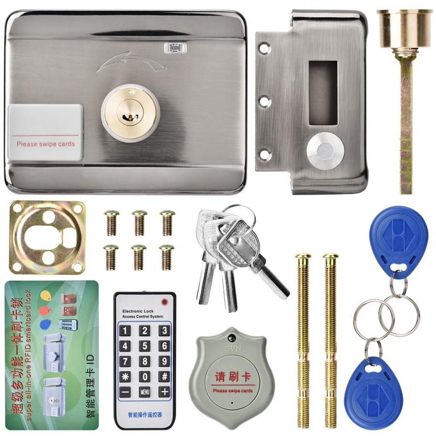 電子アクセスインテリジェントリモートエントリのアクセスコントロールシステム ID ダブルヘッド 12 12v ドアゲートロック/スマート電気ストライクロック  グループ上の 家のリフォーム からの ドアロック の中 1