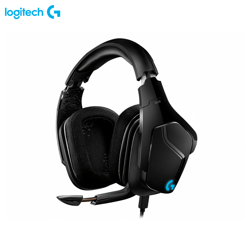 Earphones & Headphones Logitech G G635 981-000750 7.1 computer wired headset gaming esports FPS MOBA original xiberia v10 usb gaming headphones vibration led stereo around gaming headset headphone with microphone mic for pc gamer