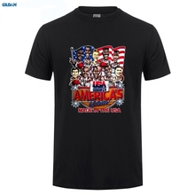 GILDAN  USA Basketballer 1992 Dream Team Caricature T Shirt New Short Sleeve Round Collar Mens T-Shirts Fashion