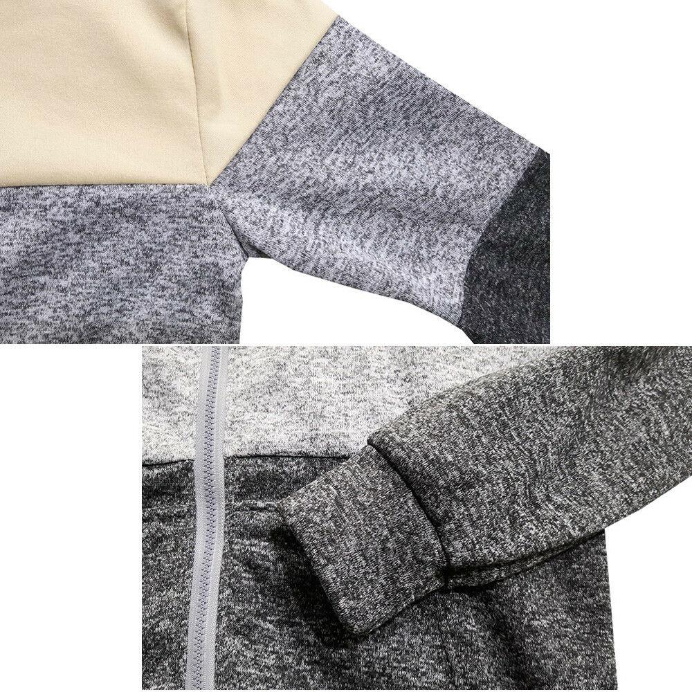 2020 Autumn Winter Men Zip Up Casual Elastic Sweater Coat Tops Jacket Outwear Sweater Jogger Zipper Men Warm Hoody Sweatercoat 4
