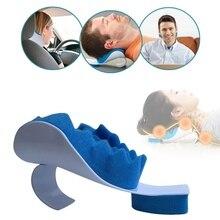 Подушка для поддержки шеи, подушка для путешествий, облегчающая шею, плечо, расслабляющее устройство для мышц, тяговое устройство для облегчения боли, выравнивание шейного отдела позвоночника