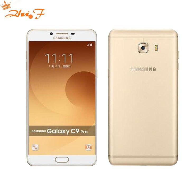 Nuevo Original Samsung Galaxy C9 Pro C9000 6 GB RAM 64 GB ROM LTE Octa core 16MP Cámara 6''inch 4000 mAh de la batería del teléfono celular
