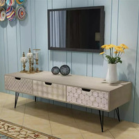 VidaXL TV Cabinet With 3 Drawers 120x40x36 Cm Grey Can Be Used As A Side Table Hifi Cabinet Sideboard Low Board