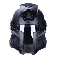 Outdoor Medieval Iron Warrior Helmet Side Integrated Rail NVG Shroud Transfer Base Dial Knob Sports Helmet Pure Color