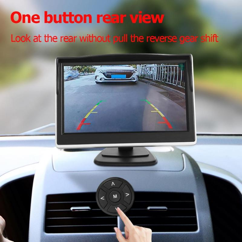 Car DVR 360 Degree Bird View System 4 Camera Panoramic  Recording Parking Front+Rear+Left+Right View Cam with 5 Inch Monitor