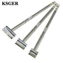Ksger T12 1401 1402 1403 stm32 oled/led estação de solda ponta de solda diy ferro de solda para fx951 hand8s melt tin reparação ferramentas