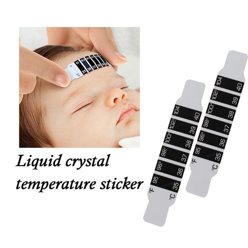 Testa Termômetro Do Bebê recém-nascido Mudança de Cor do LCD Medidor de Temperatura Do Bebê Reutilizável Pegajoso Crianças Flexíveis Monitores de Cuidados de Saúde