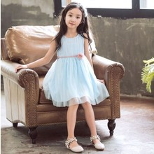 Tulle Patchwork Kids Baby Girls Sleeveless Dresses Summer 2019 Little Teen Girls Dress Holiday Children Clothing Sundress girls dress cute sleeveless long sundress new style chiffon holiday dresses high quality kids clothes for girl children clothing