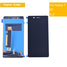 10Pcs Original LCD For Nokia7 N7 Nokia 7 DIsplay Touch Screen Digitizer Assembly Complete Pantalla Display