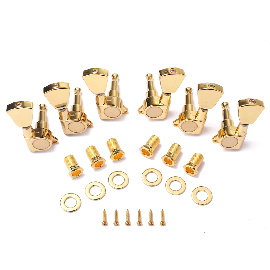 Zinc Alloy Gold Tuning Pegs Key Tuners Machine Heads for LP Electirc Guitar Parts