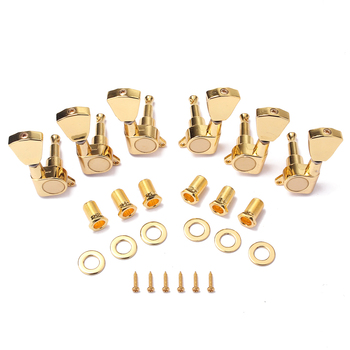 Zinc Alloy Gold Tuning Pegs Key Tuners Machine Heads Grover Tuners Tuning Peg for Electirc Guitar Parts image