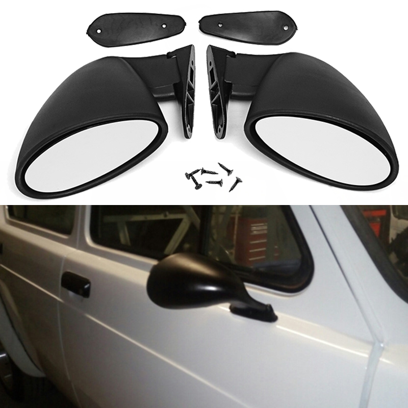 1 paire/2 pcs Mat Noir Universel Classique Style De Voiture Porte Aile Vue Latérale Miroir Remplacer Universel pour la plupart des voitures facile à installer