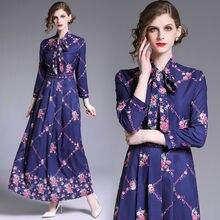 Женское модельное платье дизайнерское летнее синее Цветочное