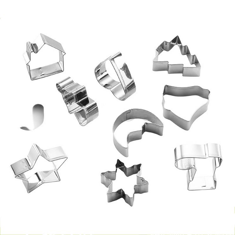 Cookie Cutter Dry Mold Cake Baking Mold Stainless Steel 3D Christmas Cake Cookie Mold Cutters Fondant Cutter DIY Baking Tools