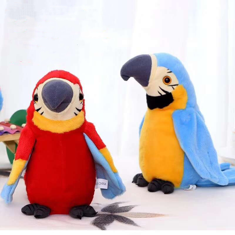 Talking Back Parrot speaking plush toys Electronic stuffed animals for children girls boys baby Humor Ted