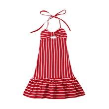 Kids Dresses For Girls Striped Maxi Long Dress Beach Party Sundress Casual Princess Pageant Dresses Children Clothes Girls Dress