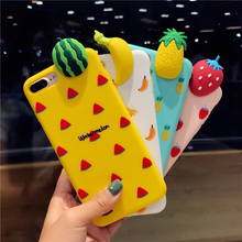 KISSCASE 3D Fruit Patterned Case For iPhone XS MAX XR Cases girly 7 8 X Cute Soft Back Phone Covers Capinhas