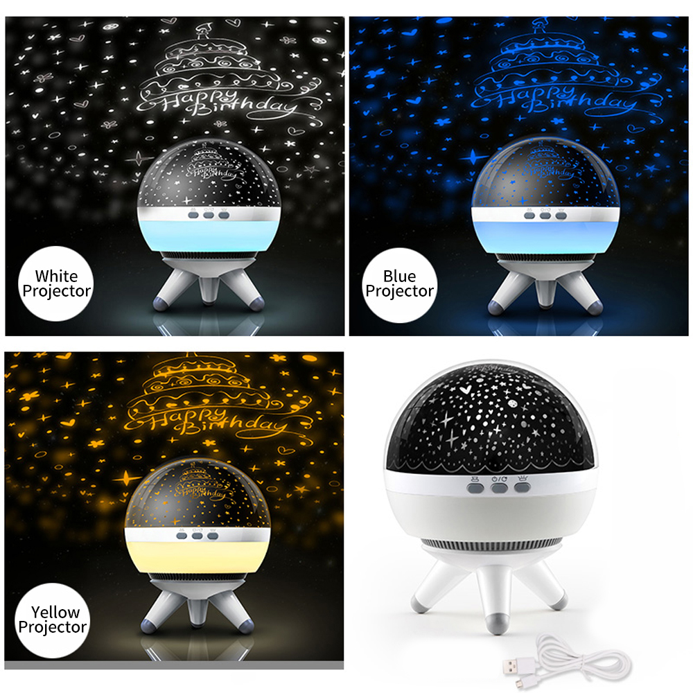 Have An Inquiring Mind New Star Projector Baby Light 3 Color Projector 360 Rotation Lamp For Kids 3-12 Year Old Boys Girls Gifts Toys Space Safety Equipment