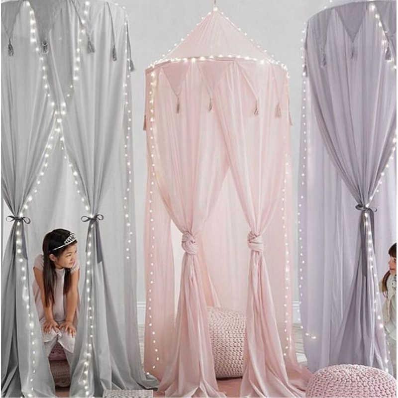 Шифоновая москитная сетка, Хлопковый чехол детский, противомоскитная кровать для принцессы, балдахин для девочек, кровать для комнаты, навес для борьбы с вредителями, сетка DA