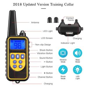 Image 2 - pet 800m Electric Dog Training Collar Pet Remote Control Waterproof Rechargeable with LCD Display for All Size Bark stop Collars
