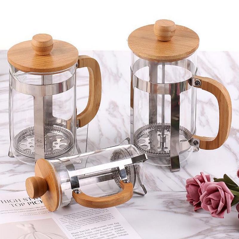 Coffee Maker Pot Stainless Steel Glass Coffee Pot French Press Filter Pot Household Tea Maker Cafe Coffee Pot Tea Maker Kettle
