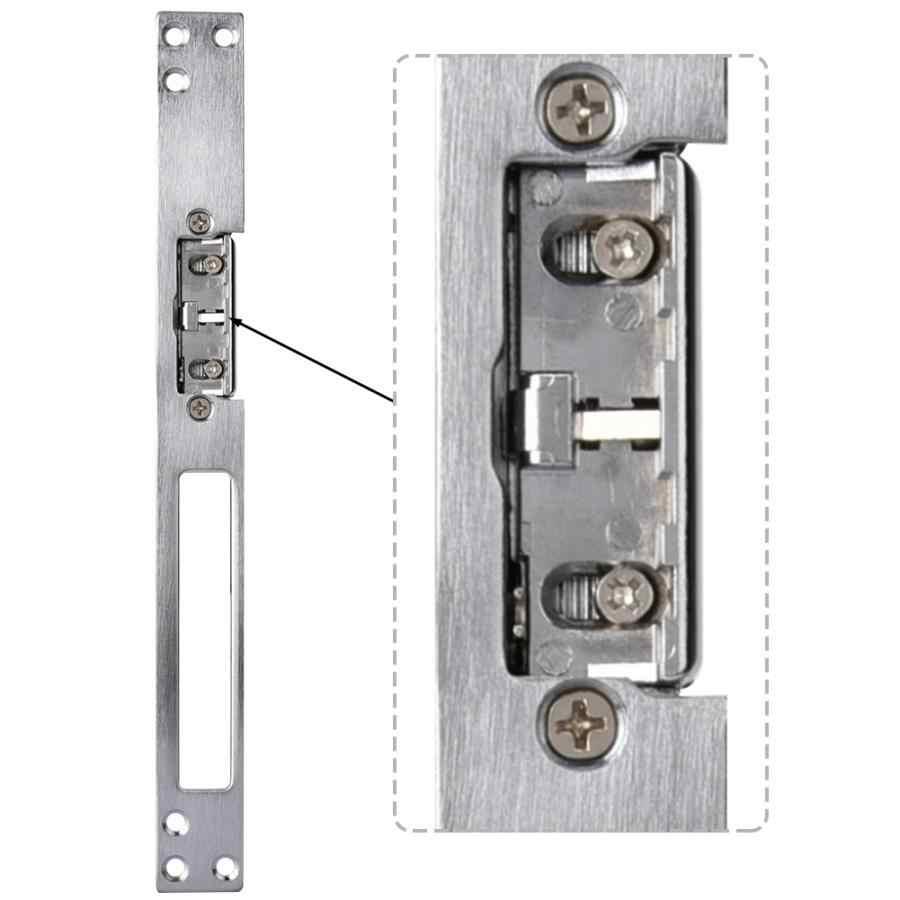 Dc 12V 0.2A Elektrische Magnetische Bout Lock Intelligente Guard Kathode Strike Lock Dubbele Unlock Modus Deur Poort Toegangscontrole systeem