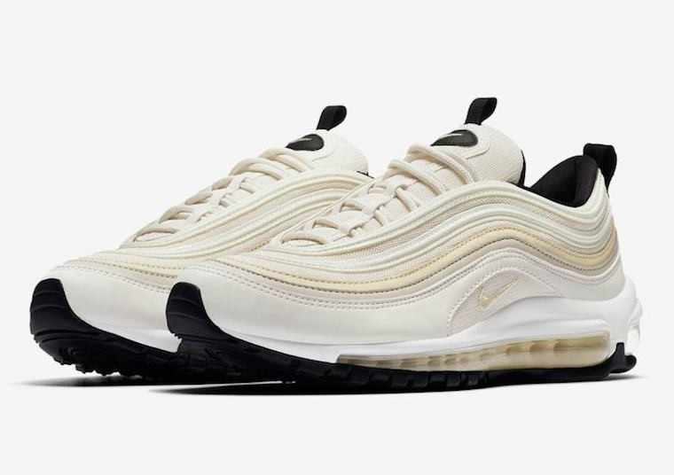 Nike Air Max 97 New Arrival Women Running Shoes Air Cushion Phantom Desert Bullet Yellowish Comfortable Sneakers #921733 007