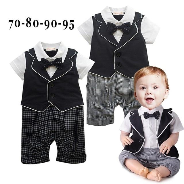 Babykleding 80.Dhl Ems Free Shipping Baby Boys One Piece Rompers Little Gentlenman