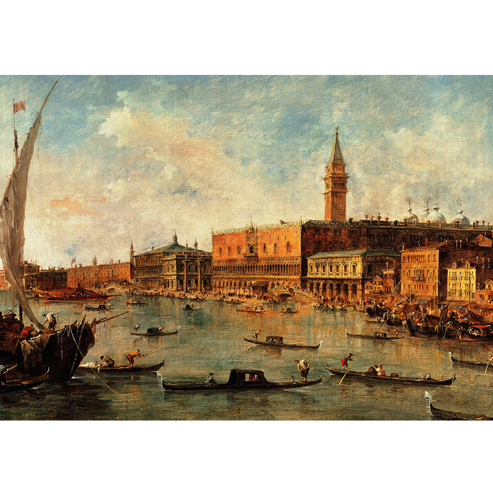 "New Product Famous Painting ""Venice View"" From Author Francesco Guardi 3D Paper Puzzle 2000 Pieces Puzzle Adulto