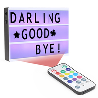 LED Color Changing DIY Letter Combination Light Box Night Lamp With Remote Control Dimmable Colorful Light
