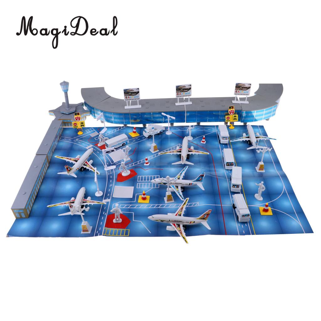 Childrens Toy Gift Set Airplane Sand Table Model Scene Airport Assembly 200pcs AccessoriesChildrens Toy Gift Set Airplane Sand Table Model Scene Airport Assembly 200pcs Accessories
